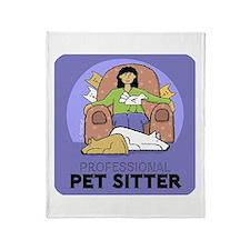 Professional Pet Sitter Throw Blanket