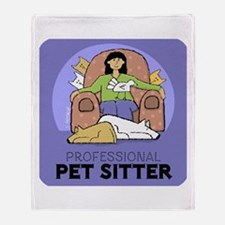 Professional Pet Sitter Throw Blanket