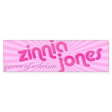 Zinnia Jones bumper sticker