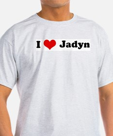 I Love Jadyn Ash Grey T-Shirt