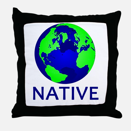 Unique Earth mother Throw Pillow
