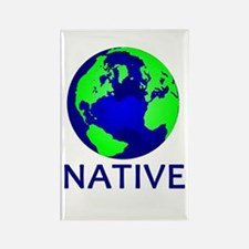 Cute Earth Rectangle Magnet (100 pack)
