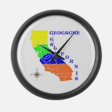 Geocache California Large Wall Clock