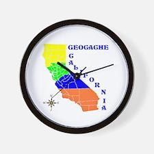 Geocache California Wall Clock