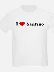 I Love Santino Kids T-Shirt