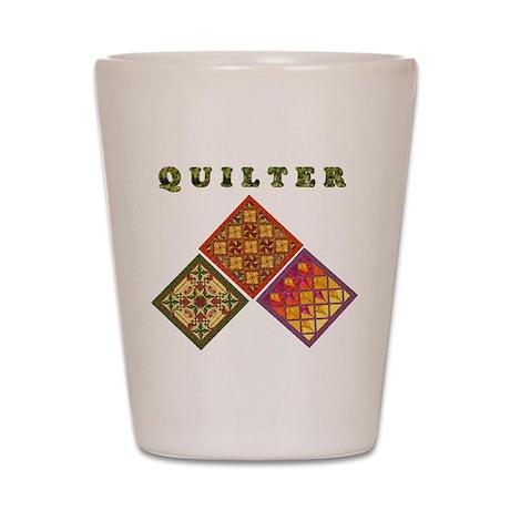 Quilter 3 Shot Glass