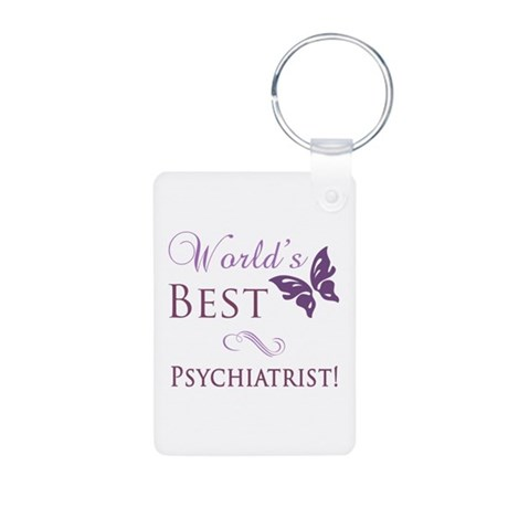 World's Best Psychiatrist Aluminum Photo Keychain