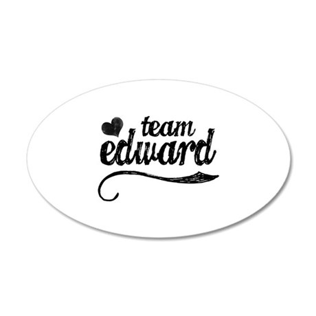 Team Edward 38.5 x 24.5 Oval Wall Peel