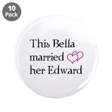 "This Bella married her Edward 3.5"" Button (10 pack"