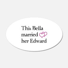 This Bella married her Edward 22x14 Oval Wall Peel