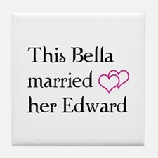 This Bella married her Edward Tile Coaster
