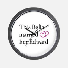 This Bella married her Edward Wall Clock