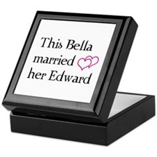 This Bella married her Edward Keepsake Box