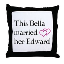 This Bella married her Edward Throw Pillow