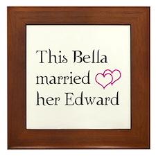 This Bella married her Edward Framed Tile