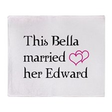 This Bella married her Edward Throw Blanket