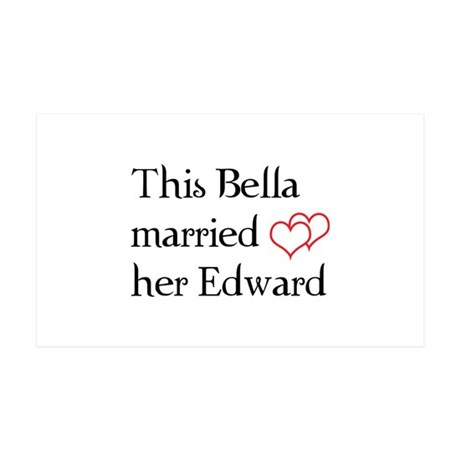 This Bella married her Edward 38.5 x 24.5 Wall Pee