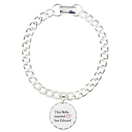 This Bella married her Edward Charm Bracelet, One