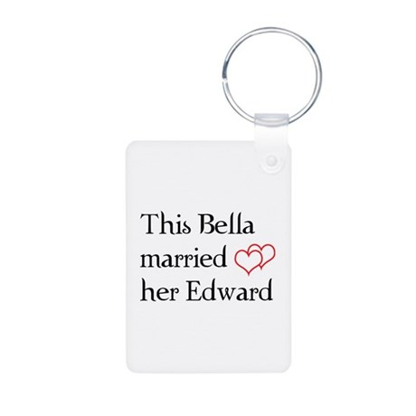 This Bella married her Edward Aluminum Photo Keych