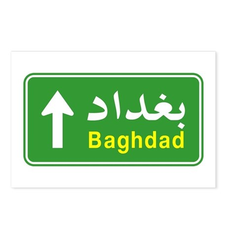 Baghdad Arabic Traffic Sign Postcards (Package of