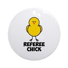 Referee Chick Ornament (Round)