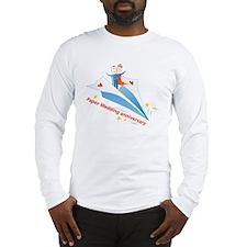 On Paper Plane Long Sleeve T-Shirt