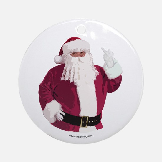 Merry Christmas - Dark Ornament (Round)