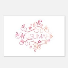 Muslimah Pink Floral Items & Postcards (Package of