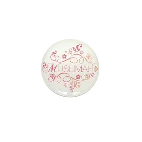 Muslimah Pink Floral Items & Mini Button (100 pack