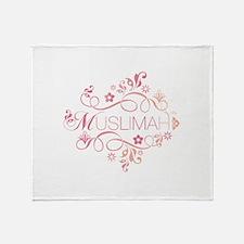 Muslimah Pink Floral Items & Throw Blanket