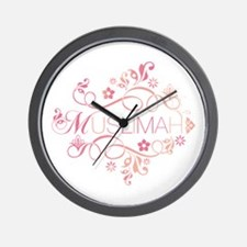 Muslimah Pink Floral Items & Wall Clock