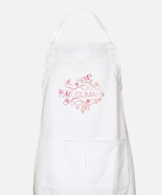 Muslimah Pink Floral Items & Apron