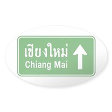 Chiang Mai Thailand Traffic Sign Decal