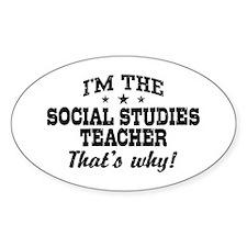 Social Studies Teacher Decal