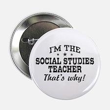 """Social Studies Teacher 2.25"""" Button"""