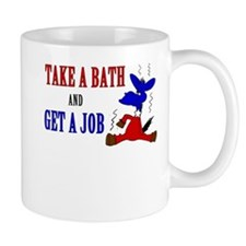 Take a Bath & Get a Job Mug