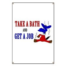 Take a Bath & Get a Job Banner