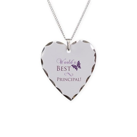 World's Best Principal Necklace Heart Charm