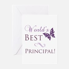 World's Best Principal Greeting Cards (Pk of 10)