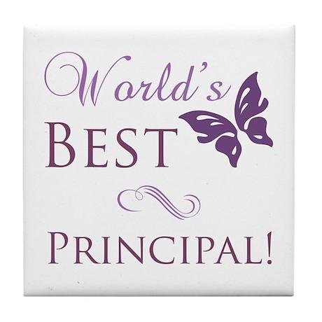 World's Best Principal Tile Coaster