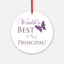 World's Best Principal Ornament (Round)