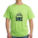 Little Blue Car Green T-Shirt