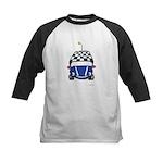Little Blue Car Kids Baseball Jersey