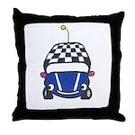Little Blue Car Throw Pillow