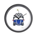 Little Blue Car Wall Clock