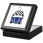 Little Blue Car Keepsake Box