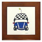 Little Blue Car Framed Tile