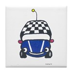 Little Blue Car Tile Coaster