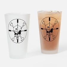Crosshairs Drinking Glass