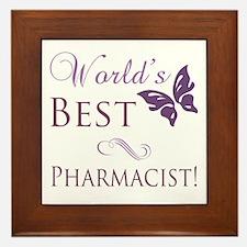 World's Best Pharmacist Framed Tile